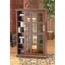 Wooden Bookcase With Glass Doors Livingroom Bookcase With Sliding Doors Furniture On The Web