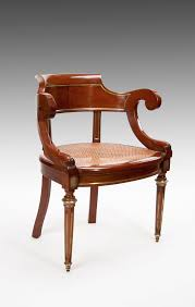 Antique French Desk Antique French Mahogany And Brass Desk Chair C 1900 France From