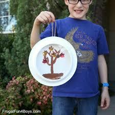 fall craft for kids paper plate fall tree u201csnow u201d globe