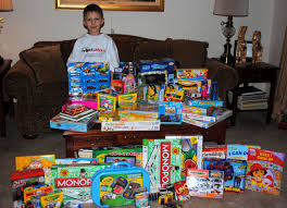eight year boy donates his birthday toys to charity ay