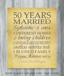 50 wedding anniversary gift ideas shir 50th anniversary gifts ideas for friends wedding parents