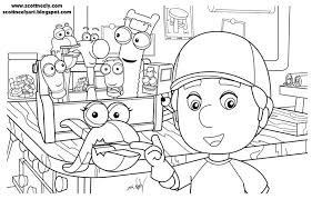 handy manny tools coloring pages handy mannyscott neely design o strator