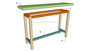 build a console table how to build a console table howtospecialist how to build step