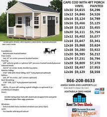 cabin cape cod style gable 4ft porch