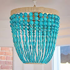 turquoise beaded chandelier district17 ro sham beaux malibu turquoise beaded chandelier