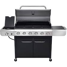 Brinkmann Portable Gas Grill by Char Broil Convective 6 Burner Grill Stainless Steel Black