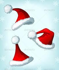 cartoon santa claus u0027 christmas hats by flyc graphicriver