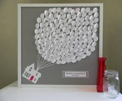 bridal guest book large wedding guest book alternative 3d paper balloons lovely