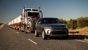 range rover defender 2018 land rover discovery tows 121 ton road train the torque report