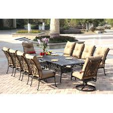 darlee santa anita 11 piece cast aluminum patio dining set with