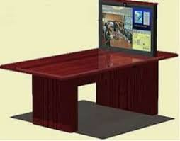 conference table pop up tele conferencing with 42 pop up tv plasma lift conference table