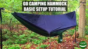 how to set up the go camping hammock ridgeline u0026 bug net basic