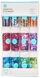 amazon com martha stewart crafts hexagonal glitter 12 pack