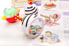 amazon com smartnoggin noggin stik baby rattle toy with guide for
