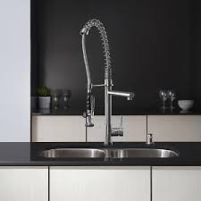 kraus commercial pre rinse chrome kitchen faucet kraus kpf 1602ss single handle pull kitchen faucet commercial