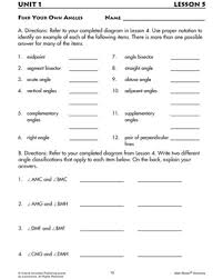 find your own angles u2013 geometry worksheets for 7th graders u2013 math