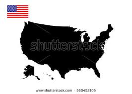 vector usa map united states america map flag vector stock vector 560452105
