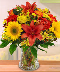 bright fall day flowers from the heart