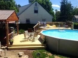 Pool Landscaping Ideas Backyard Above Ground Pool Idea U2013 Bullyfreeworld Com