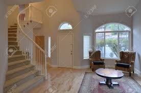 living room with staircase stock photo picture and royalty free