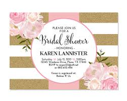 brunch bridal shower invitations pink gold glitter bridal shower invitation stripes floral pink