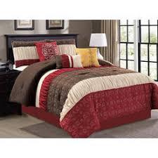 Ruffled Comforter Red Comforters Geometric Sears