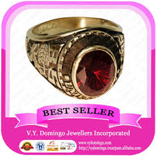 best class rings images Custom made wholesale college ring with garnet stone class ring jpg