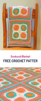 free crochet patterns for home decor sunburst blanket free crochet pattern crochet yarn crafts home