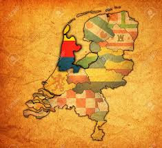 Holland Map North Holland Flag On Map With Borders Of Provinces In Netherlands