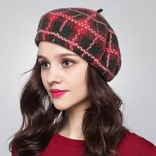 scottish plaid french beret hat for women winter wear buyhathats com