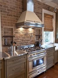houzz kitchens backsplashes design innovative brick backsplash for kitchen painted brick