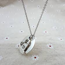 necklace love images Fashion round love pendant necklace with letter p s i love you jpg