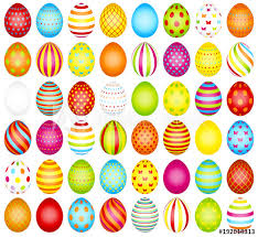 big easter eggs big set colored easter eggs pattern buy this stock vector and