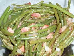 my italian grandmother creamed peas and southern style green beans