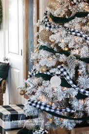 flocked christmas tree flocked christmas tree the wood grain cottage