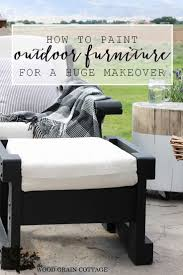 Wood Outdoor Patio Furniture Outdoor Patio Furniture Makeover The Wood Grain Cottage
