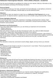 Field Engineer Resume Sample by Halliburton Field Engineer Sample Resume Uxhandy Com