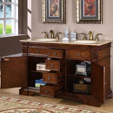 55 Inch Bathroom Vanities by Silkroad Exclusive 55 Inch Double Sink Cabinet Bathroom Vanity