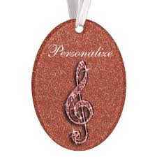 personalized glitzy sparkly note ornament zazzle