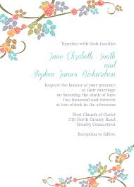 Wedding Invite Template Spring Floral Border Invitation Template Wedding Invitation
