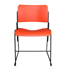 set of 5 40 4 stacking chairs by david rowland rejuvenation