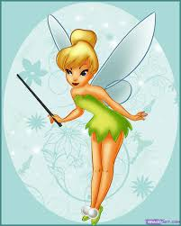 draw tinkerbell step step disney characters cartoons
