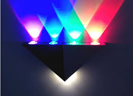 5w led wall sconce aisle light triangle shape decorative lights