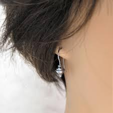 earrings everyday silver earrings bicone earrings sleeper earrings
