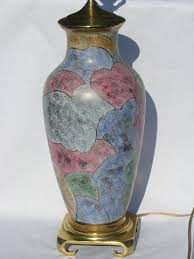 Vase Table Lamp Gold Moriage Oriental Ceramic Vase Table Lamp Solid Brass Base