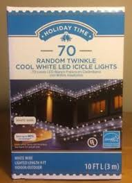 twinkling white led icicle lights holiday time 70 count random twinkle cool white led icicle lights