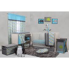 Aqua And Grey Crib Bedding Bacati Elephants 10 Crib Bedding Set Aqua Walmart