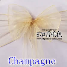 wholesale chair sashes chagne colour chair sashes organza sash wedding party