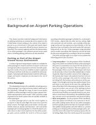chapter 1 background on airport parking operations handbook to