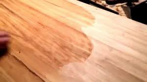 putting butcher block oil on the island countertop i made youtube